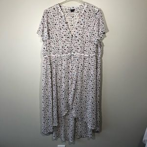 Torrid High/Low Sheer Floral Tunic/Duster SZ 3X